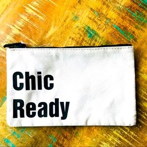 "🌺4 Items $25🌺 Pencil Pouch "" Chic Ready"" - NWT"